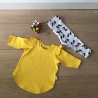 Sweatshirt jurk met ruches