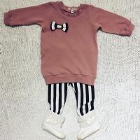 Baby sweaterdress met strikje