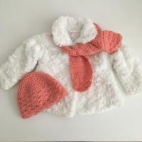 Gehaakt mutsje en sjaal voor baby (6 - 12 maanden)